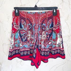 Patrons Of Peace Smocked Paisley Shorts